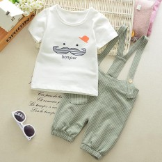 Summer Baby Boys Clothes Set Cartoon Toddler Baby Infant Outfits T-shirt+Bib Pants