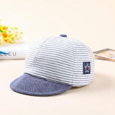 Summer Cotton Baby Hat Cute Casual Striped Soft Eaves Baseball Cap Baby Boy  Beret Baby Girls 019d3e0d459