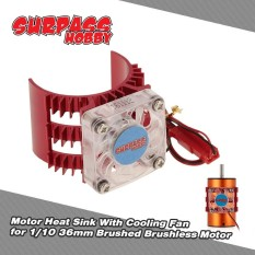 Superpass Hobby Motor Heat Sink With Cooling Fan For 1/10 Hsp Hpi Wltoys Kyosho Traxxas 36mm Brushed Brushless Motor - Intl By Outdoorfree.