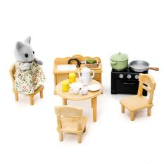 dollhouse furniture cheap. Sylvanian Families Country Kitchen Set 1703 Dollhouse Furniture Cheap