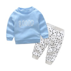 "... ""clothes"" in Clothing Sets. The new suit for children cartoon cute baby baby cotton long sleeved sweater Home Furnishing casual"
