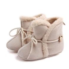 Toddler Shoes Soft Bottom Newborn Baby Boots Winter Warm Non-Slip First Walkers - intl