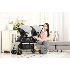Twin Stroller Tandem Stroller Push Chair Foldable Stroller By Crystal 168.