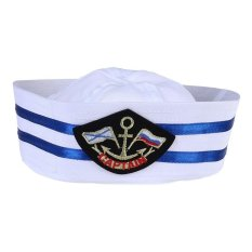 Unisex Captain Sailor Hat Skipper Navy Marine Cap Kids Military Hat Yacht Cap(middle Size-58cm) - Intl By Chaoshihui.