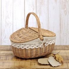 Up To 10kg Wicker Hand Picnic Storage Basket Shopping Hamper With Lid And Handle - Intl By Qiaosha.