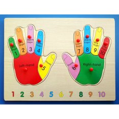 Wooden Inset Board Human Hands Puzzle - Educational And Therapeutic Toy By Christine Gutierrez-Eliseo.