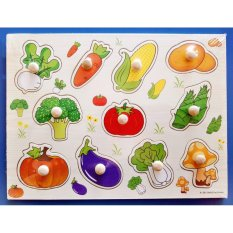 Wooden Inset Board Vegetables Puzzle - Educational And Therapeutic Toy By Christine Gutierrez-Eliseo.
