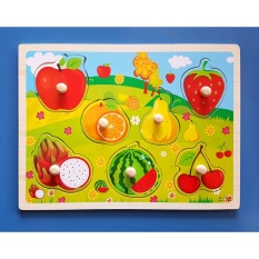 Wooden Inset Pegged Board Fruits Puzzle - Educational And Therapeutic Toy By Christine Gutierrez-Eliseo.