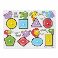 Wooden Shapes Peg Puzzle Baby Toddler Preschool Kids Toys Learning Board By Sangie Enterprise.