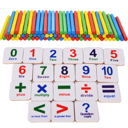 Wooden Sticks Fridge Magnet Mathematics Counting Educational Kids Toy