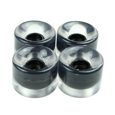 Yukufus Pu Clear Color Skateboard Longboard Wheels(black) - Intl By Yukunfushi.