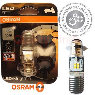 Genuine OSRAM T19 LED Headlight Bulb 12v 5/6W (1 Leg) for Mio (All Models)  / Raider / sniper 135 / Wave / XRM / Beat / Nouvo / TMX and more
