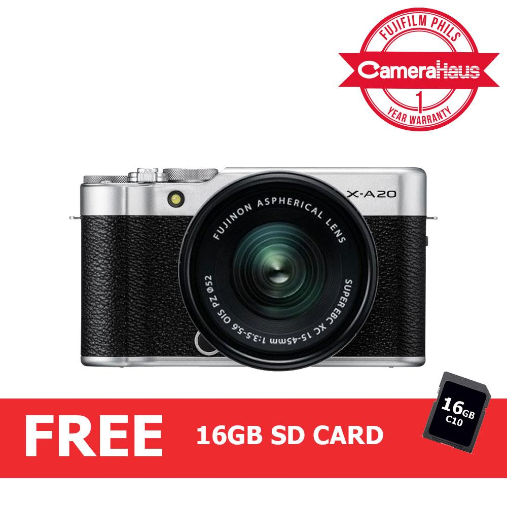 Fujifilm Xa20 Kit Mirrorless Camera With Xc 15-45 3.5-5.6 Kit Lens By Camerahaus.