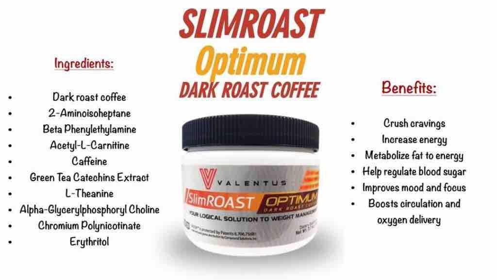 Valentus Slimroast Optimum Dark Roast Coffee