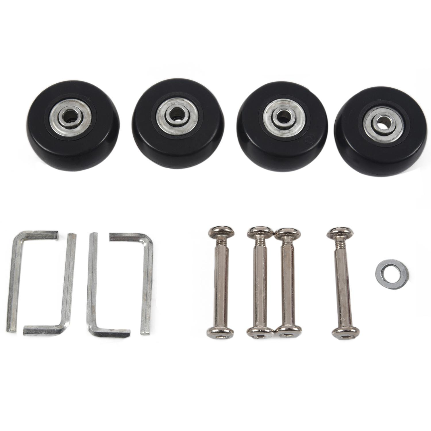 40 X 18mm Luggage Suitcase Wheels Replacement Repair Kit 2 Pair By Rainning.