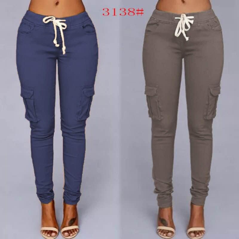 3682f5a000c840 Women Jogger Pants 6Pocket Denim 7Colors -Honey | Lazada PH