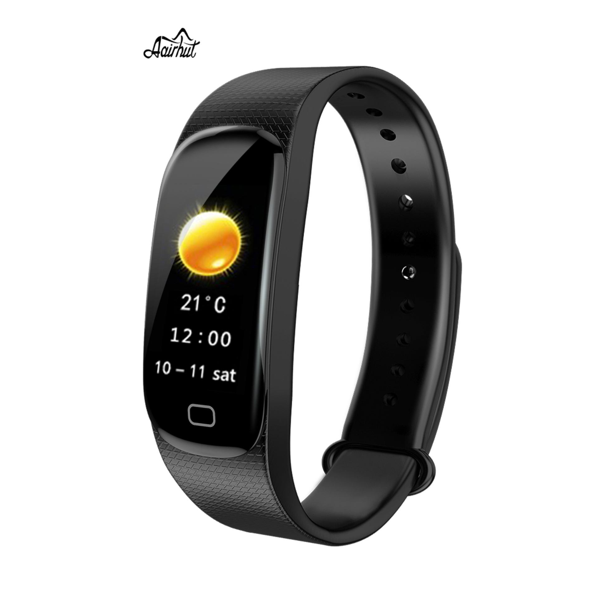 d5eecbe29 Aairhut M5 Smart Bracelet IP67 Waterproof Curved screen Smart Watches Blood  Pressure Heart Rate Monitor
