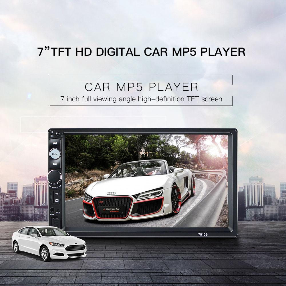 7 inches HD 2DIN Bluetooth Touch Car Stereo Radio MP5/MP3 Player  USB/AUX/TF/FM Back up Camera TV Plus Ready Mirror Link For IOS and Android  Phones