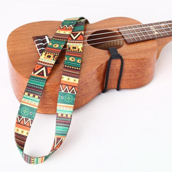 [Ready Stock] IRIN Ukulele Straps Colorful with Hook Thermal Transfer Ribbon Ethnic Style Practical Little Guitar Belt Musical Instrument Accessory Malaysia