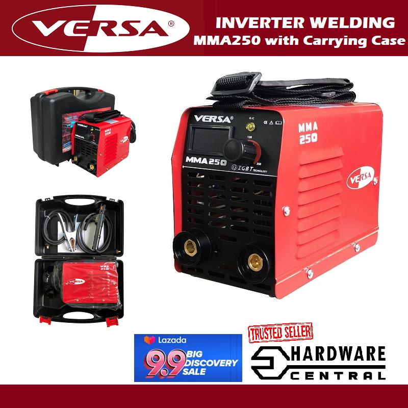 VERSA MMA250 DC Inverter Portable ARC Welding Machine with Carrying Case
