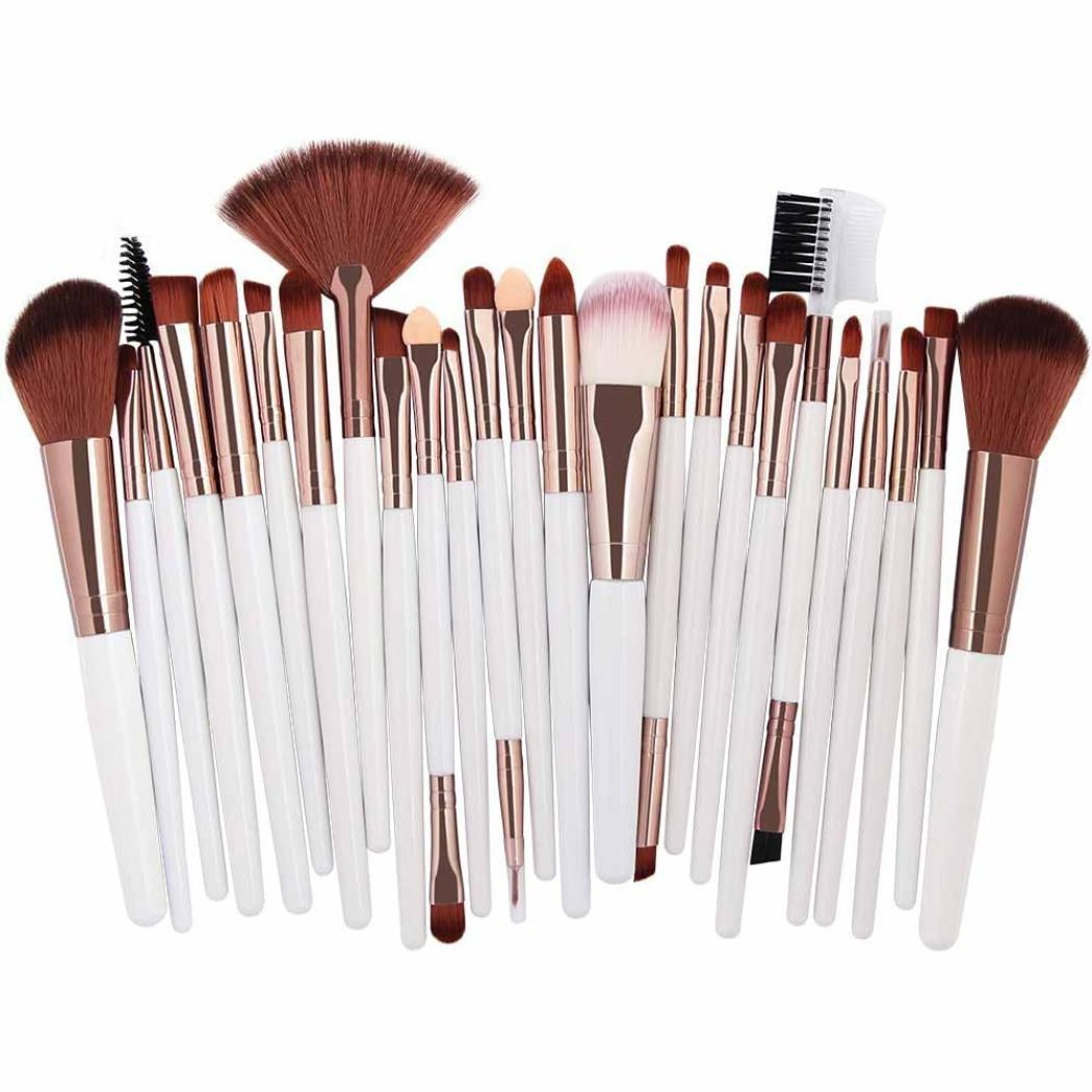 25pcs Professional Make Up Brush Set ( White&Gold ) Philippines