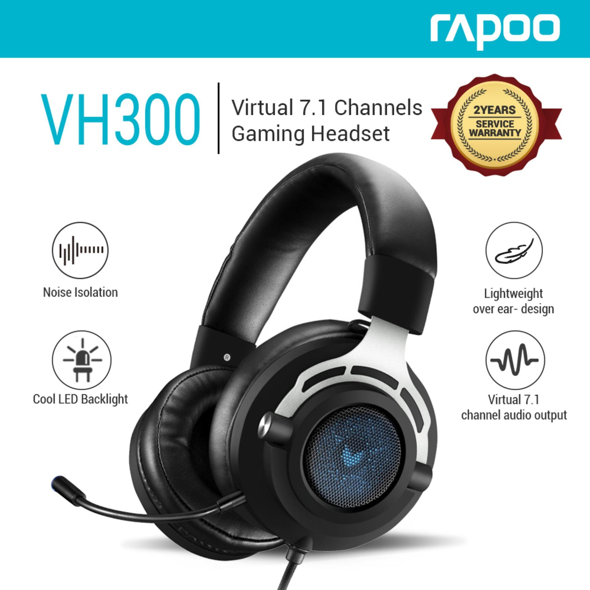 0b75a4d081d Rapoo VH300 Backlit Virtual 7.1 Gaming Headset Middle Level Wired Headphones
