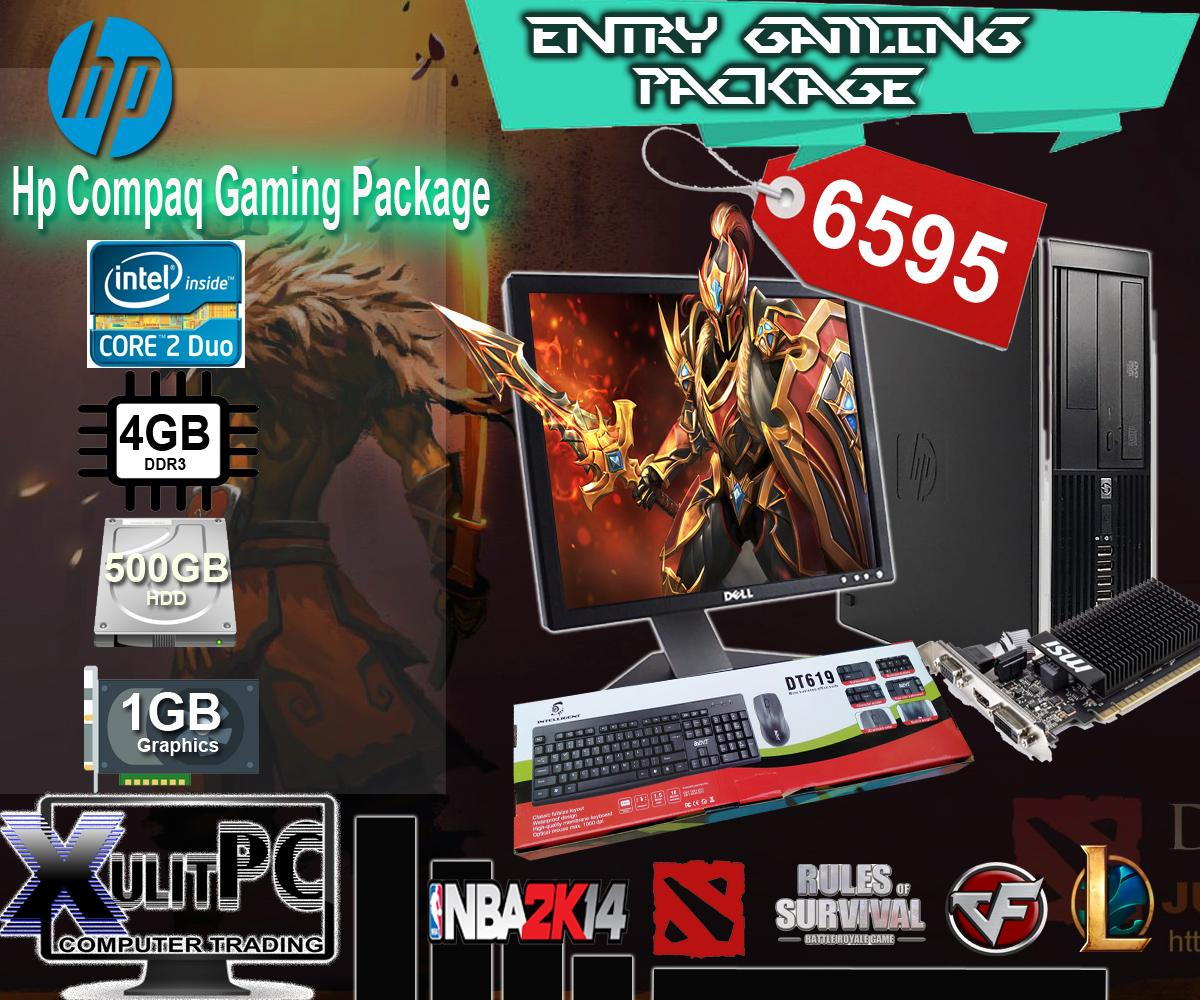 (Gaming Package)HP Compaq Core2Duo 2 9-3 0ghz, 4GB DDR3, 250GB HDD Windows  7 Pro License with 1GB VRAM Complete set of Desktop Computer Package