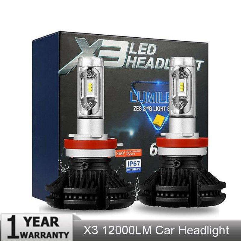 2 X H1 X9 Car Led Headlight Bulbs 20000lm 6500k White Front Light Lamp Dc 9-32v A Great Variety Of Goods Atv,rv,boat & Other Vehicle