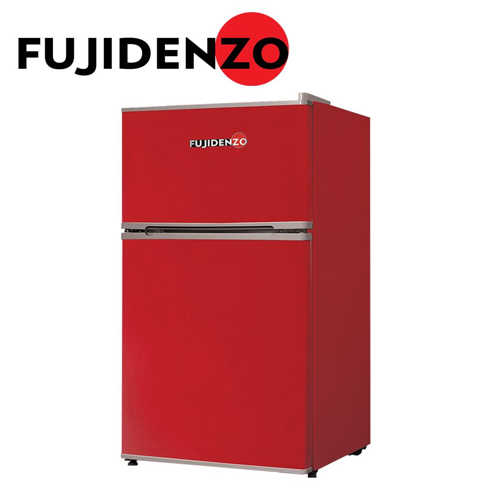 Fujidenzo 3 5 cu  ft  Two-Door Personal Refrigerator RDD-35R (Lucky Red)