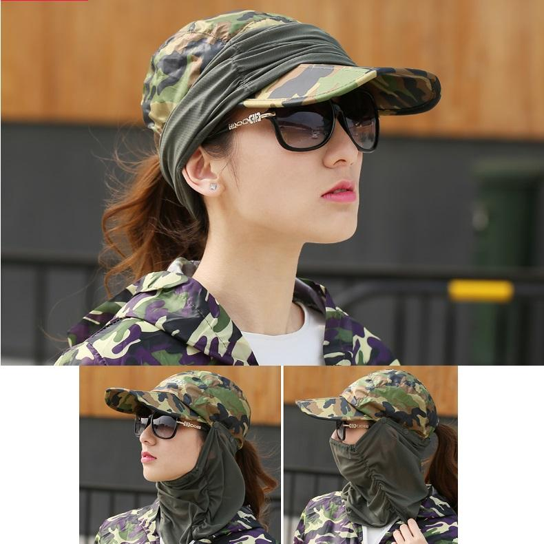 360 Degree Face Neck Protect Uv Sun Hat Foldable Cap Mesh Bucket Outdoor Sport Cycling Hiking Fishing Women Girl Men By Candy Star.