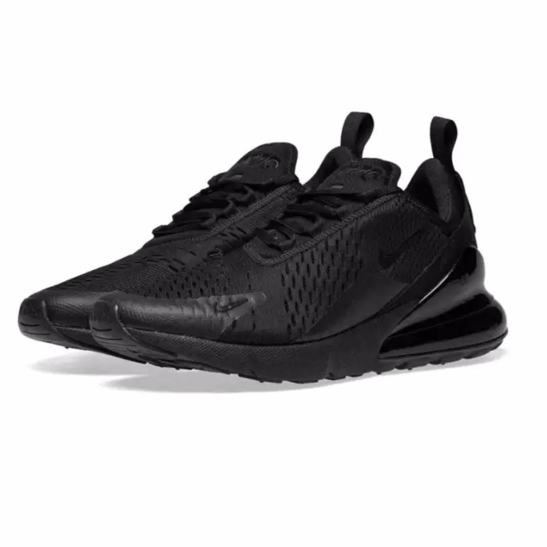 official photos 1117c cae14 NIKE AIR MAX 270 Flyknit Shoes All Black For Men