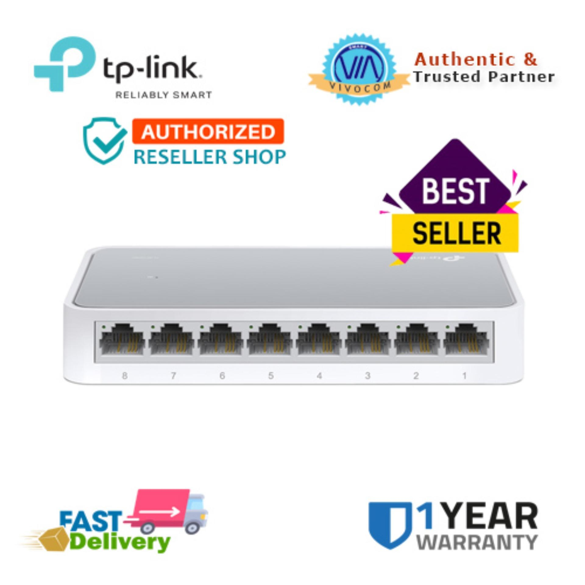 Tp-Link Tl-Sf1008d 8port 10/100mbps Switch By Vivocom Technologies Inc.