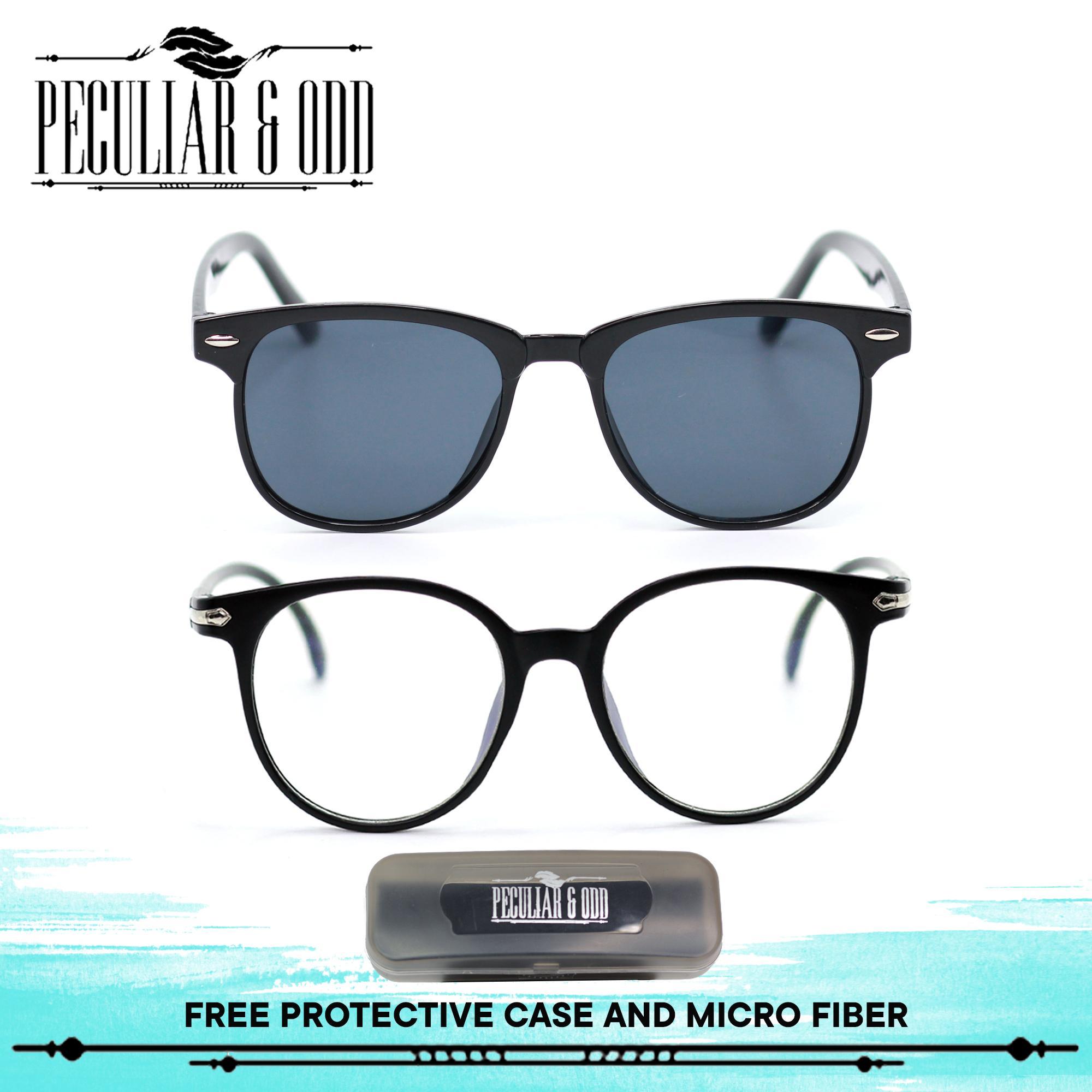 Peculiar Set of 2 721 Black Sunglass and 15959 Black Unisex Computer  Eyeglasses Anti Radiation   f49692022f00c