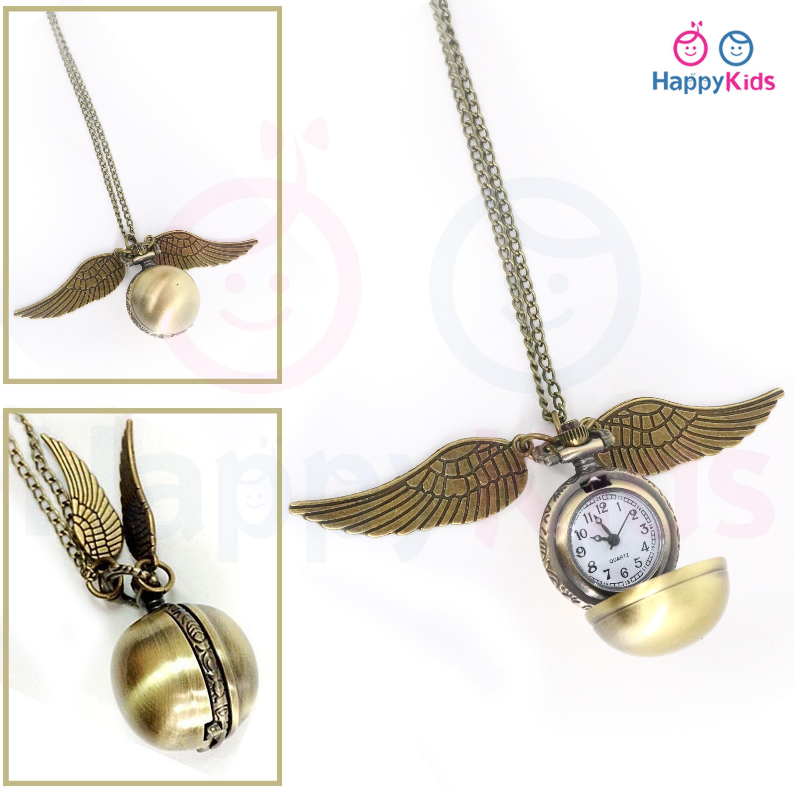 Harry Potter Snitch Watch Necklaces, Harry Potter Quartz Pocket Watches Men Women Gifts Harry Potter Necklace By Happy Kids.