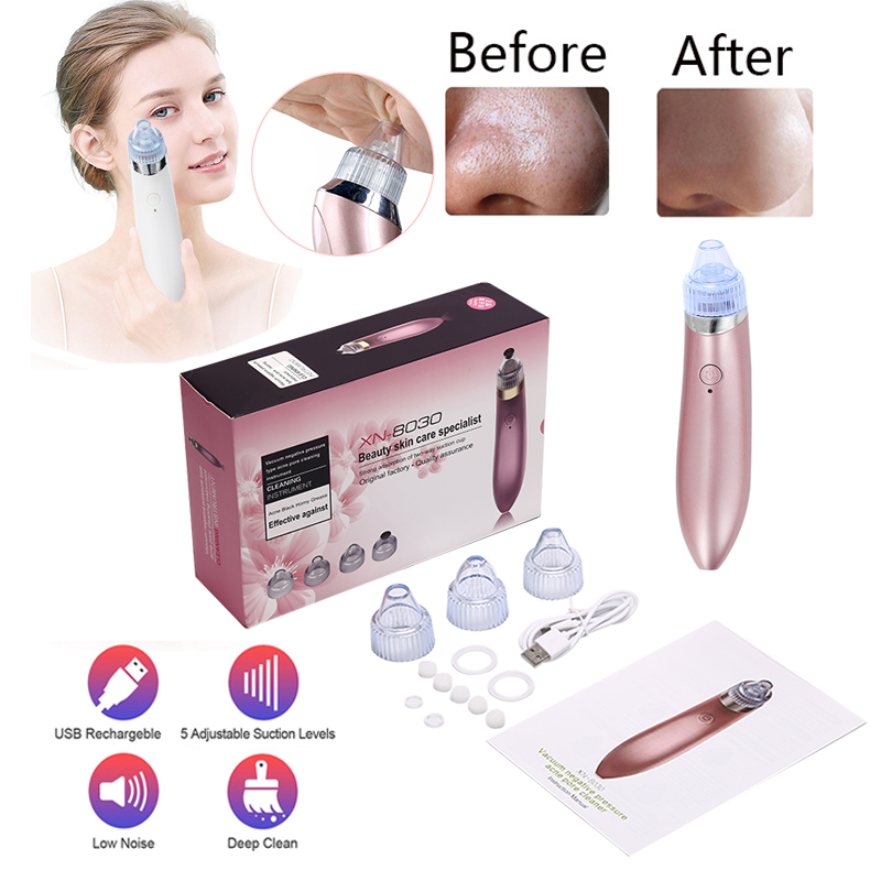 Deep cleaning】4 in 1 Blackhead Remover vacuum tool stick machine kit pore  cleaner acne & blemishes Acne Pore Vacuum Cleaner-XN 8030 Beautiful Skin  Care Expert | Lazada PH