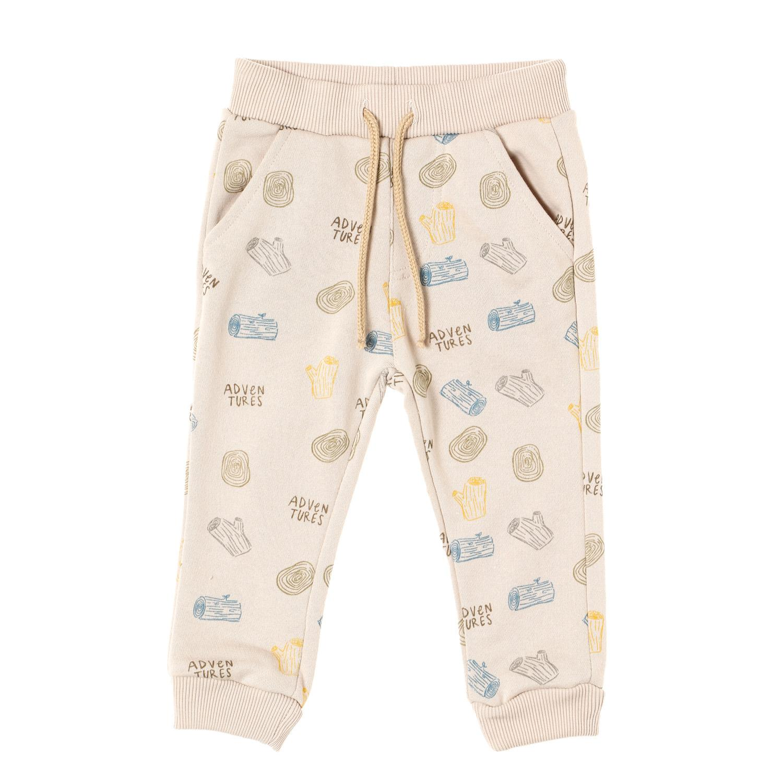 74781552eb1154 Crib Couture Baby Boys Log Adventure Jogger Pants in Khaki