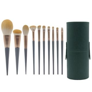 10Pcs Professional Makeup Brushes Set Beauty Tools Eyeshadow Foundation Make Up Brushes Cosmetics Set with Storage Tube thumbnail