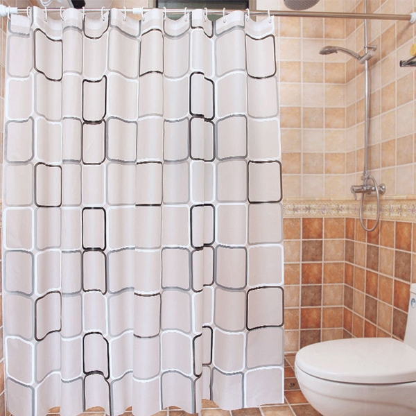 Nhà Vệ Sinh Bắp Cải Với Móc Vòng Phụ Kiện Phòng Tắm Chống Nấm Mốc Chống Thấm Nước, Rèm Phòng Tắm Trang Trí Nhà Cửa, Rèm Phòng Tắm