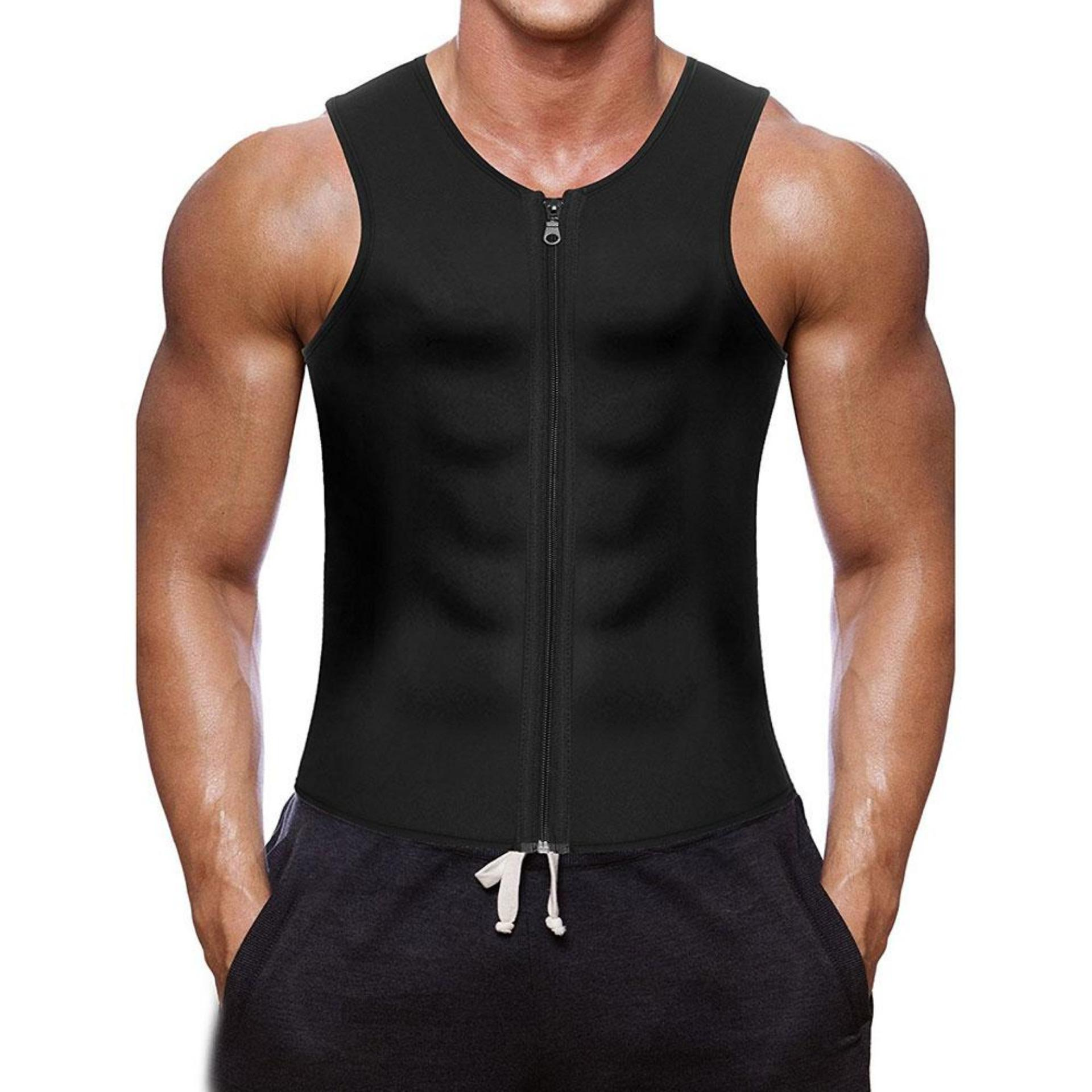 8cb915236 NiceToEmpty Professional Men Waist Trainer Vest for Weight Loss Hot  Neoprene Corset Body Shaper Zipper Sauna