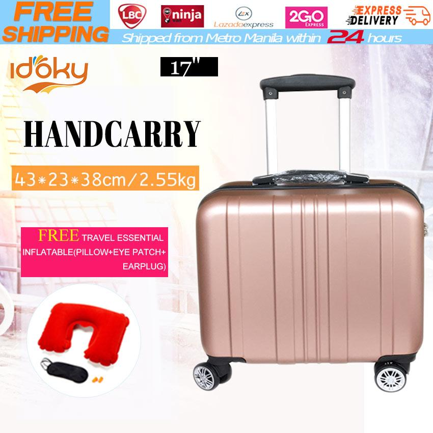 17 InchBoarding Bag 4 Wheels 360 Rotation Waterproof Suitcase Hard Case Handcarry Luggage Hand Carry Box