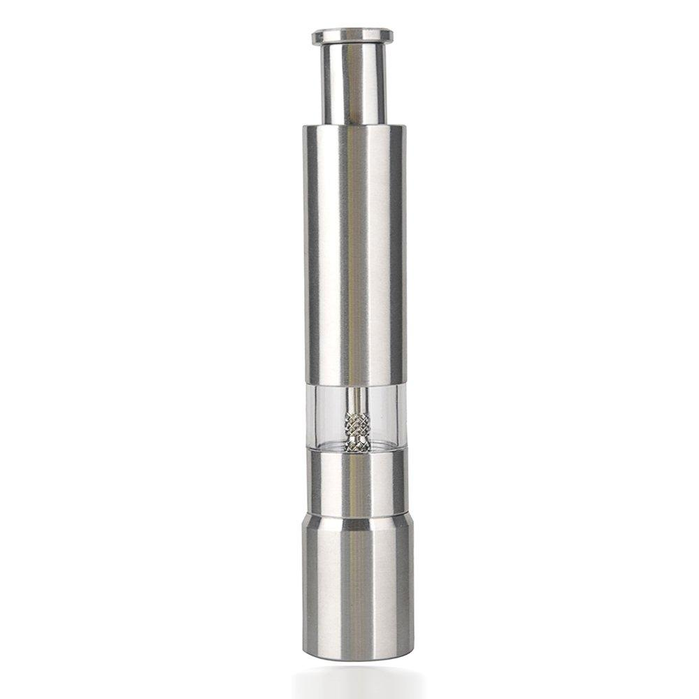 Stainless Steel Thumb Push Salt Pepper Grinder Spice Sauce Mill Grind Stick Tool By Rainning.