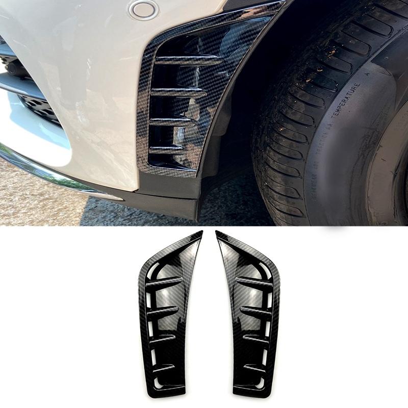 Car Carbon Fiber ABS Front Bumper Spoiler Side Wing Decorative Cover For Mercedes Benz GLC Class GLC260 GLC300 2020