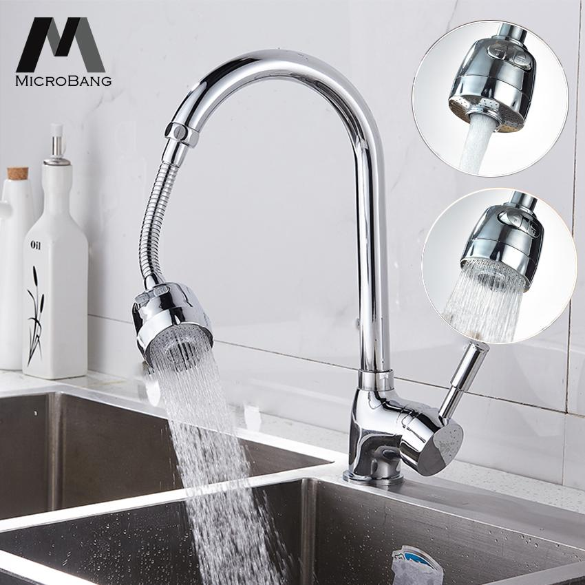 MicroBang Kitchen Water Tap Bathroom Faucet Nozzle Flexible Kitchen Sink Tap Head Water Diffuser 360 Rotatable Water Saving Tap