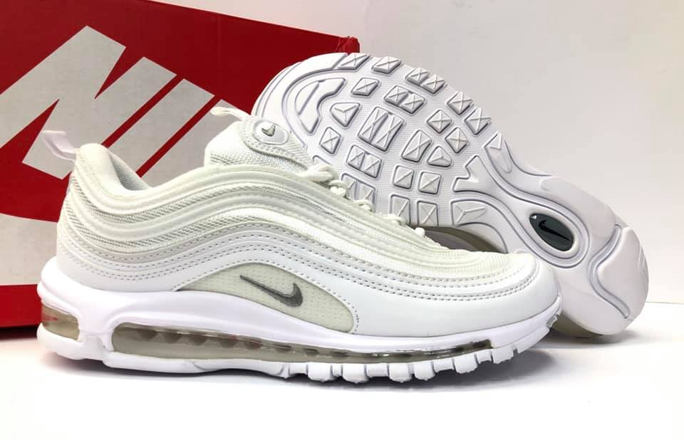 New Design Nike Air Max 97 Triple White Men S Sneakers Athletic