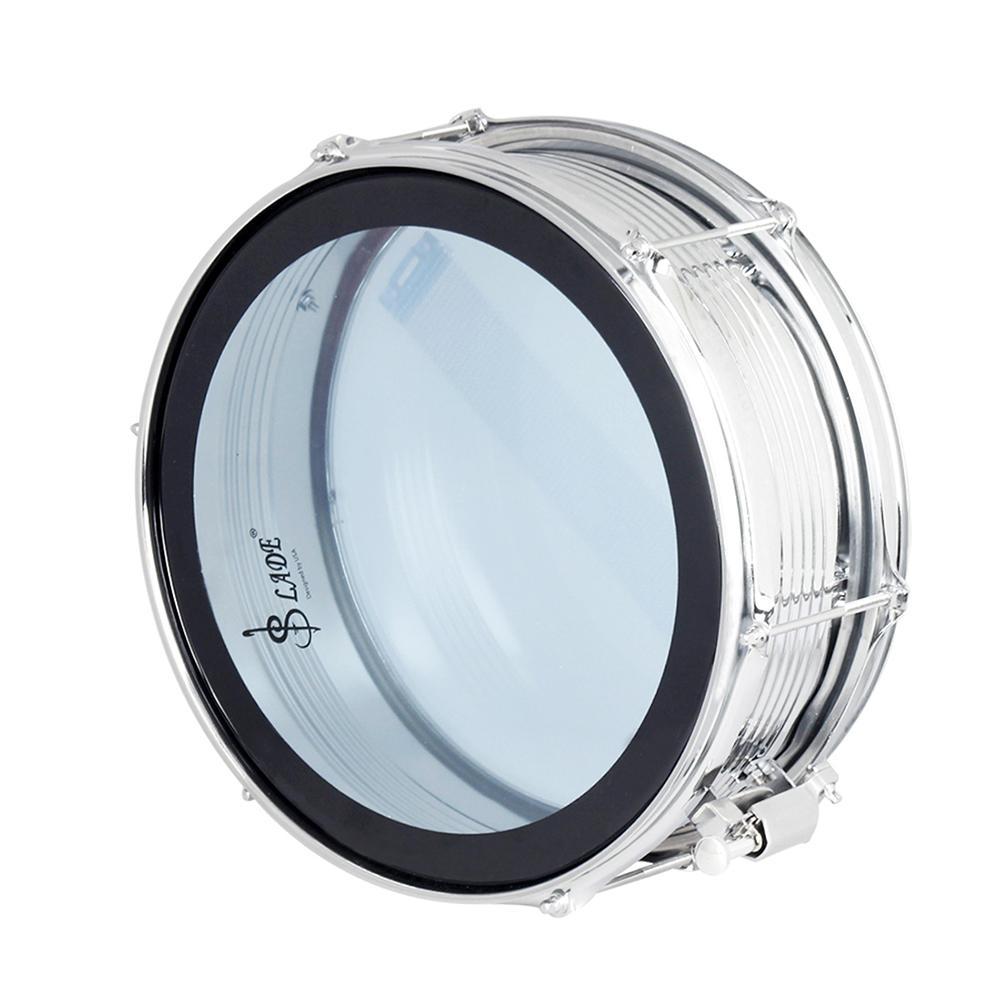 14  Snare Drum Kit Stainless Steel Drum Body PVC Drum Head with Drum Bag Strap Drumsticks Drumstick Bag Drum Damper Gel Pads
