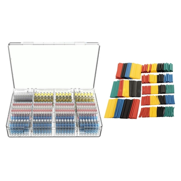 Bảng giá 583PCS Heat Shrink Butt Connectors Solder Seal Wire Connectors Waterproof Electrical Terminals Kit