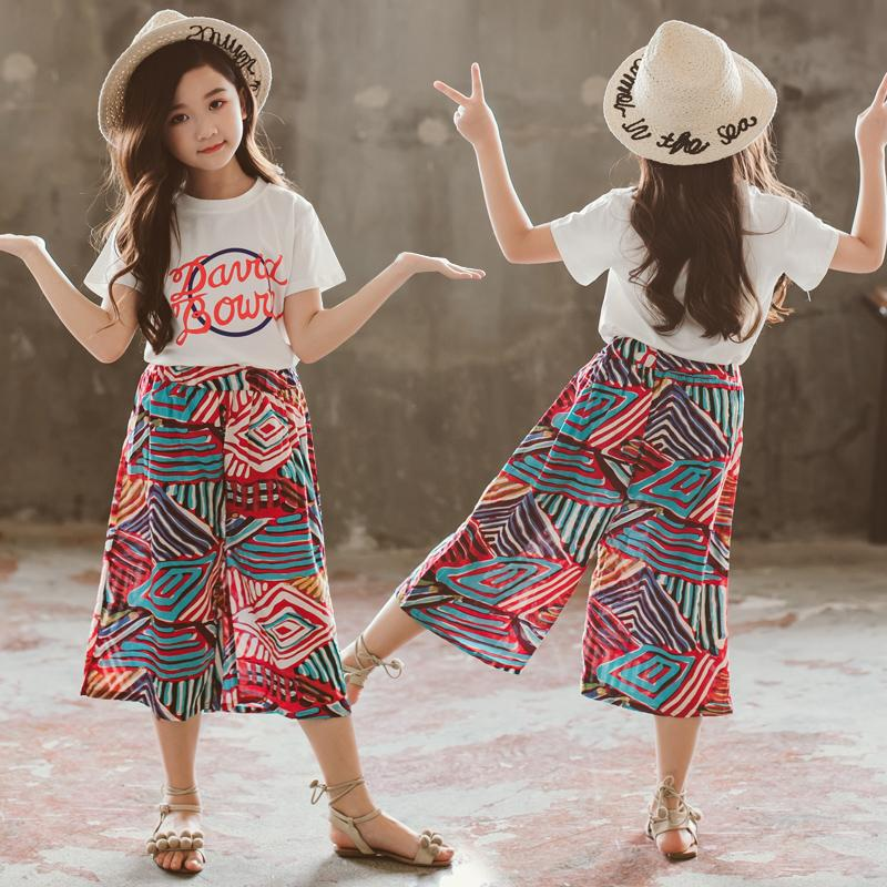 291d36899 Girls' Summer Clothing Set 2019 New Style Children's Garment Western Style  Korean Style Loose Pants
