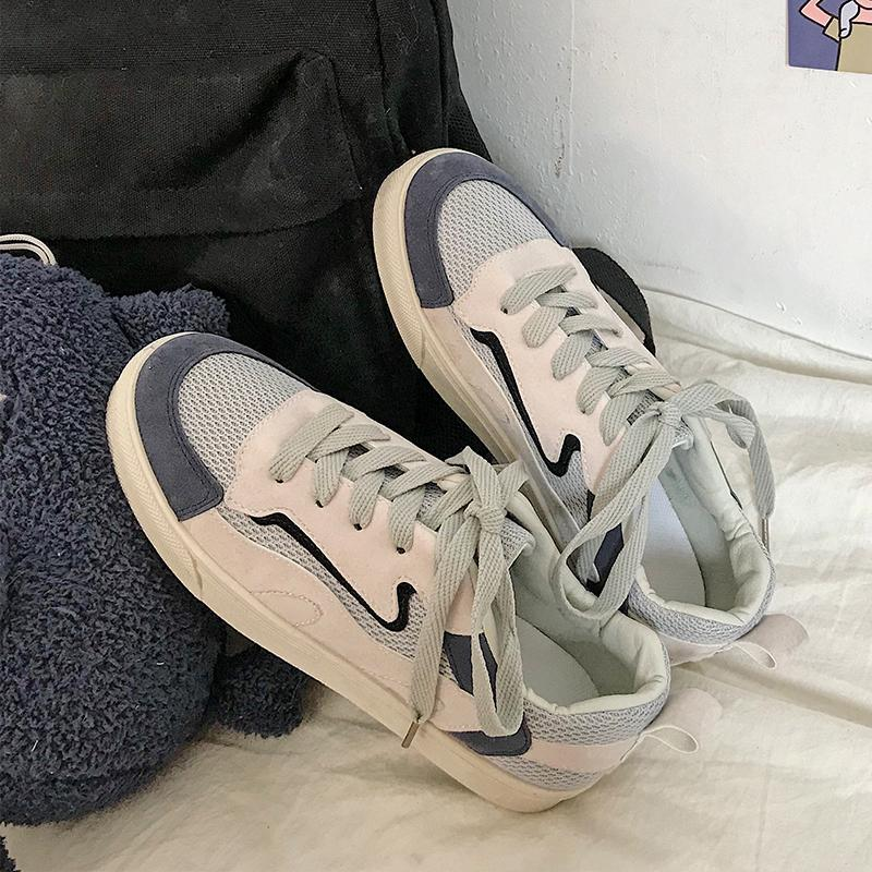 รองเท้าผ้าใบหญิงแนวย้อนยุค 2019 ฤดูใบไม้ผลิสำหรับฤดูร้อนใหม่สไตล์ฮ่องกงเข้าได้หลายชุดแบนสไตล์เกาหลีนักเรียนกีฟารองเท้าลำลองน้ำ By Taobao Collection.