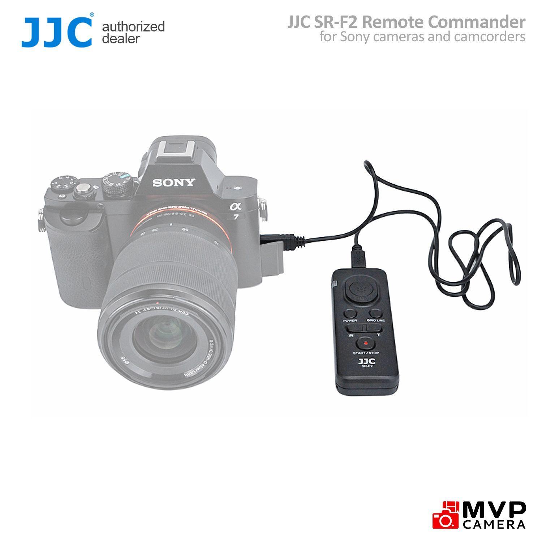 JJC SR-F2 Wired Shutter Cord Remote Control Trigger SONY Emount NEX A6500  A6400 A6300 A6000 A7 A7III A7II MVP CAMERA