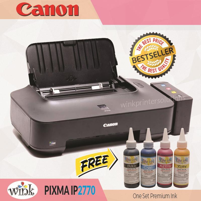 Canon Pixma IP2770 Inkjet Printer Continous System (CISS) and Elite Premium  Inks PLUS Additional One Set Elite Premium Inks